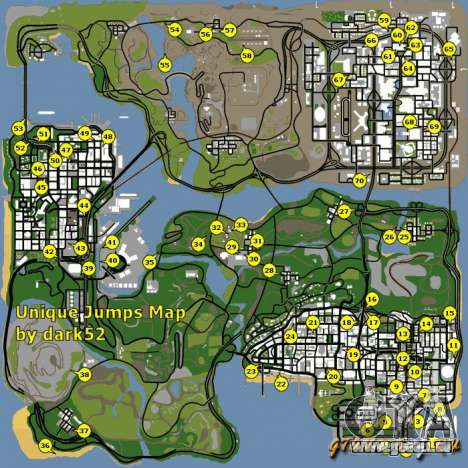 carte gta san andreas Map Of Gta San Andreas
