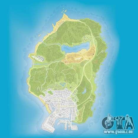 La carte du sous-marin dans des pièces de Grand Theft Auto 5