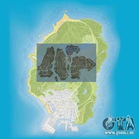 ein Vergleich der Größe der Karten von GTA 5 und GTA 4