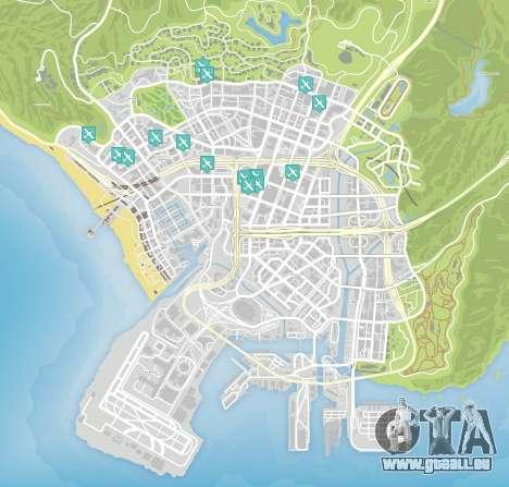 Messer Flug der Karte von GTA 5