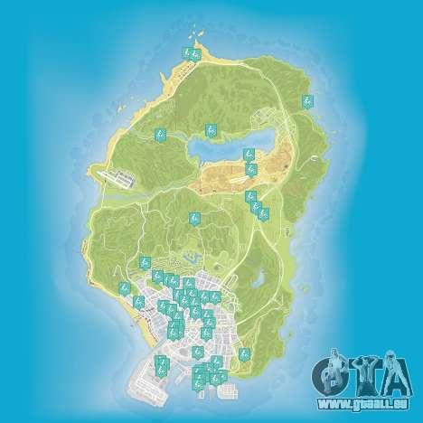 Karte von stunt-Sprünge in Grand Theft Auto 5