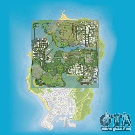 ein Vergleich der Größe der Karten von GTA 5 und GTA San Andreas