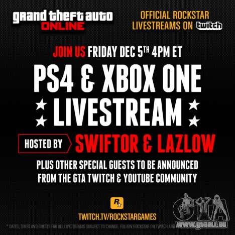 GTA 5: le tirage au sort et de diffusion Rockstar