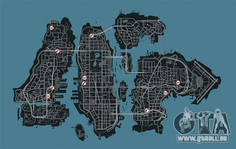 Carte des garages en GTA 4