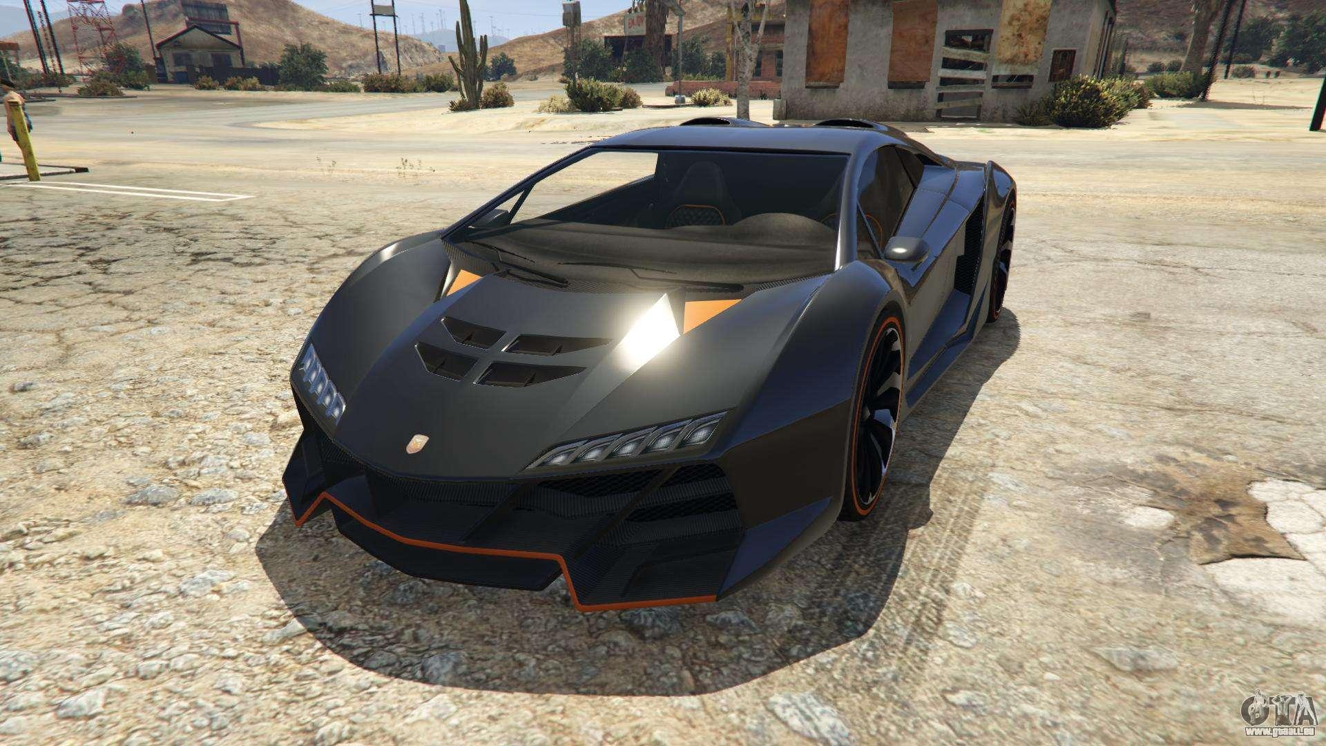 Pegassi Zentorno der GTA 5 - Frontansicht
