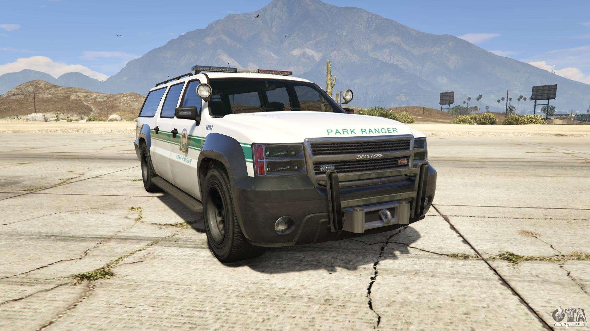 GTA 5 Declasse Park Ranger - Frontansicht