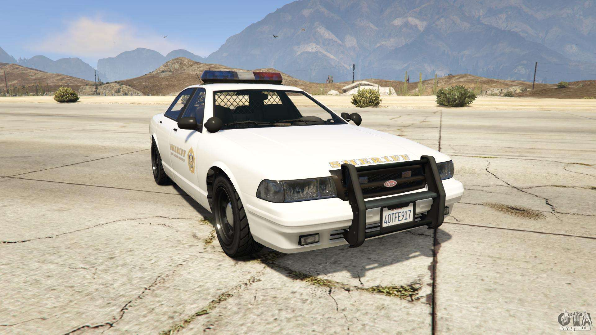 GTA 5 Vapid Sheriff Cruiser - vue de face