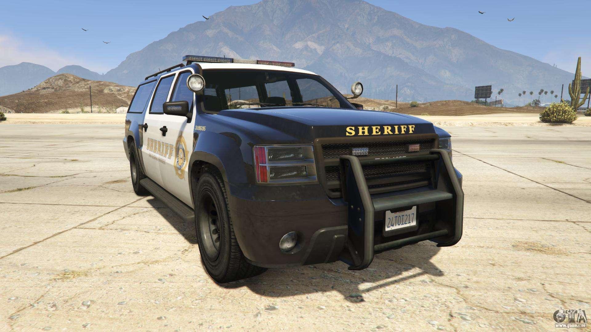 GTA 5 Declasse Sheriff SUV - Frontansicht