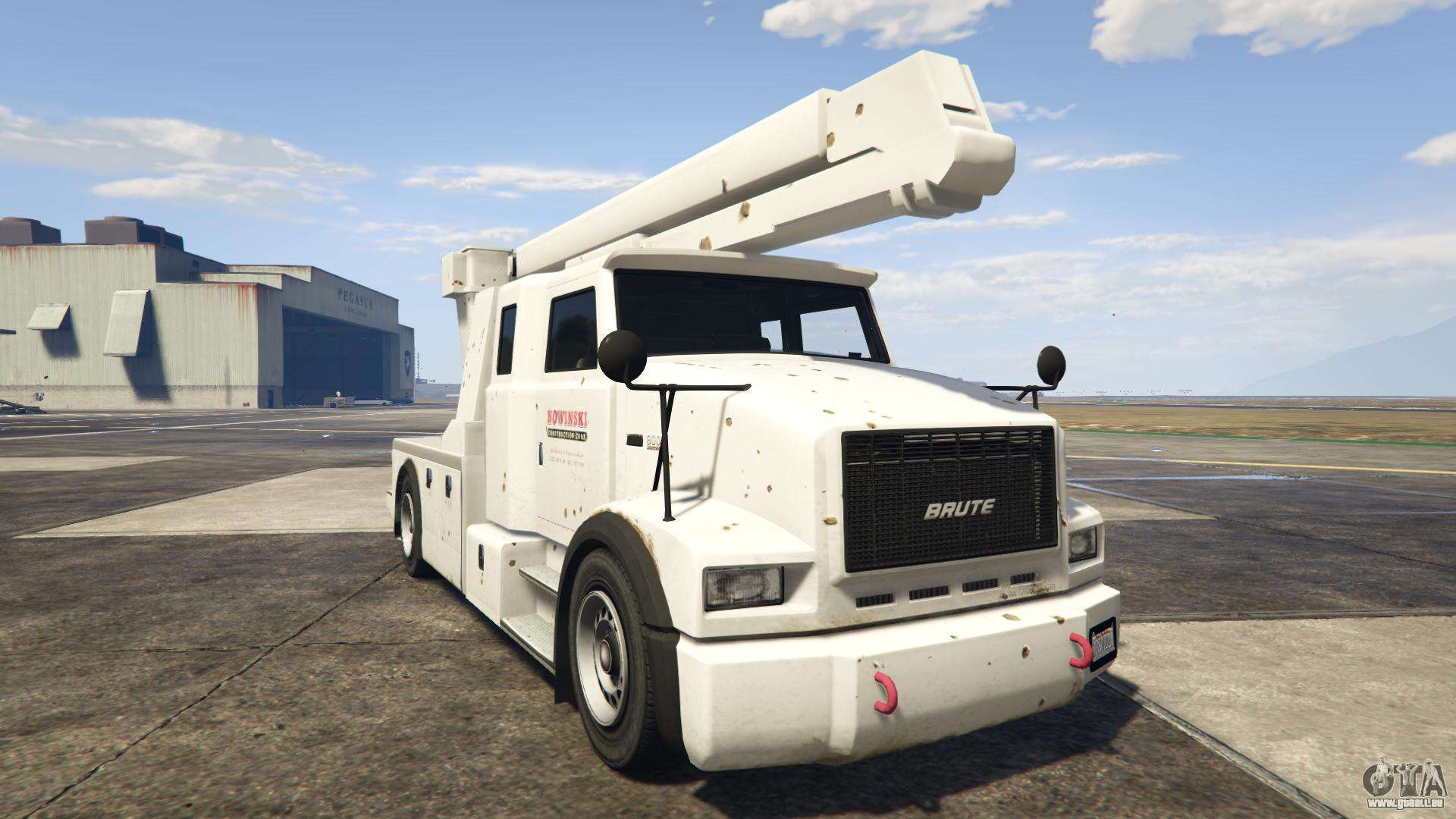 GTA 5 Brute Utility Truck - vue de face