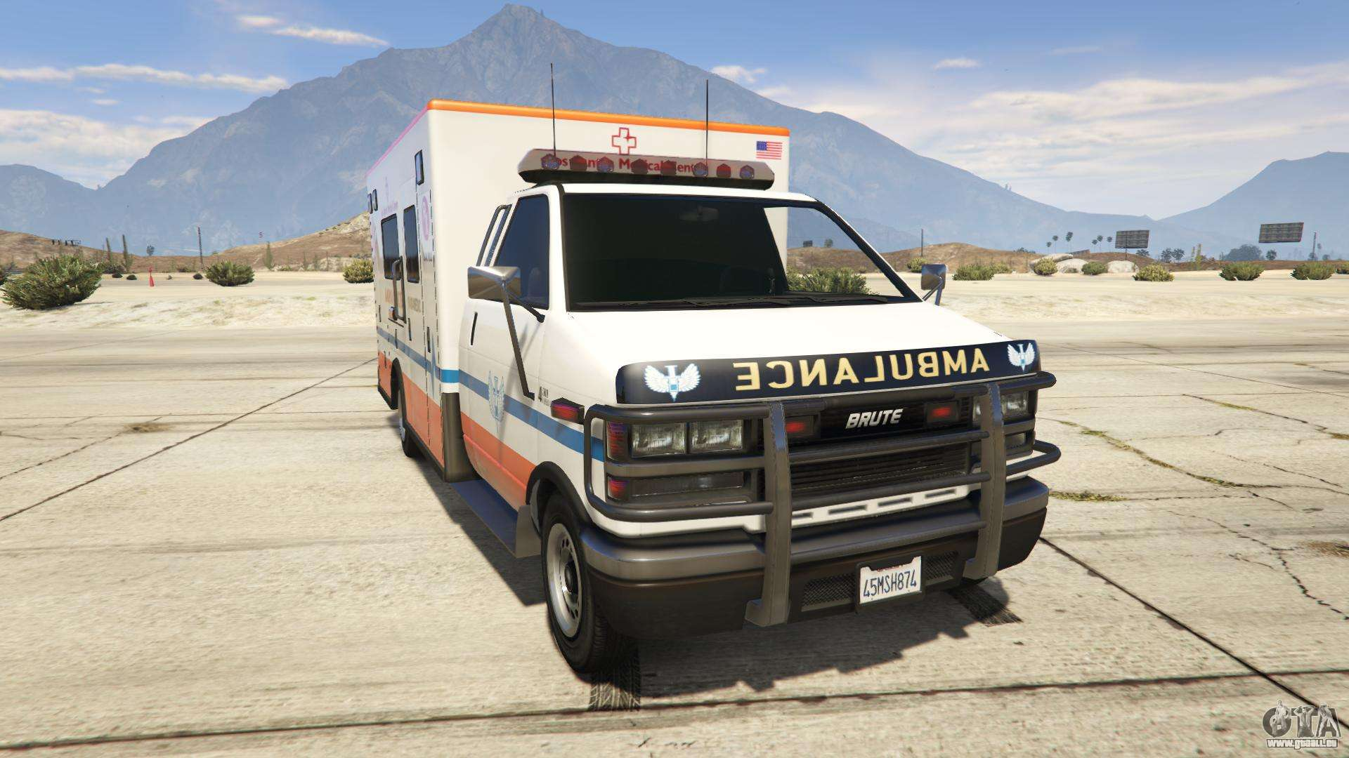 GTA 5 Brute Ambulance Los Santos Medical Center - vue de face