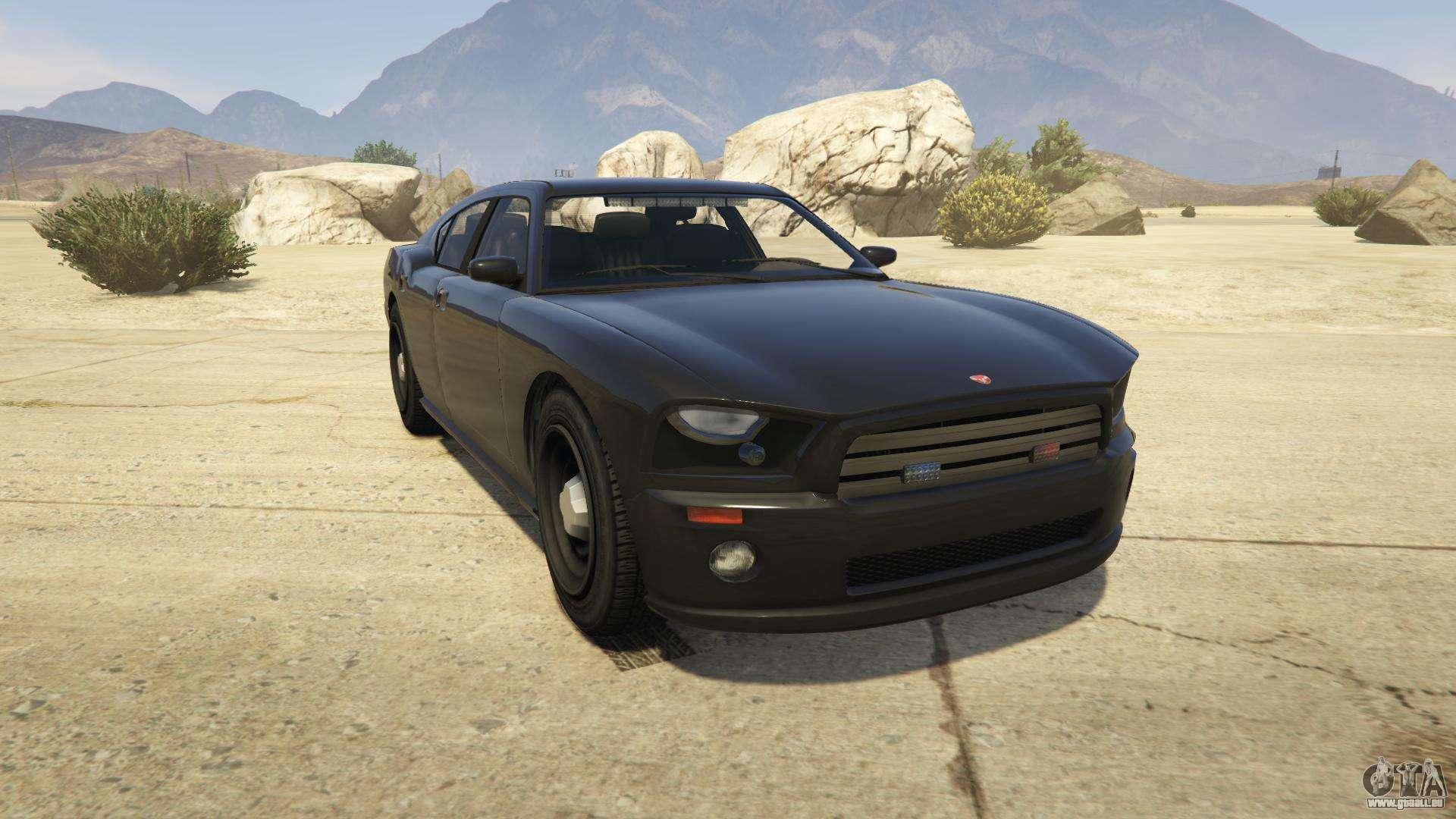 GTA 5 Bravado FIB Buffalo - vue de face