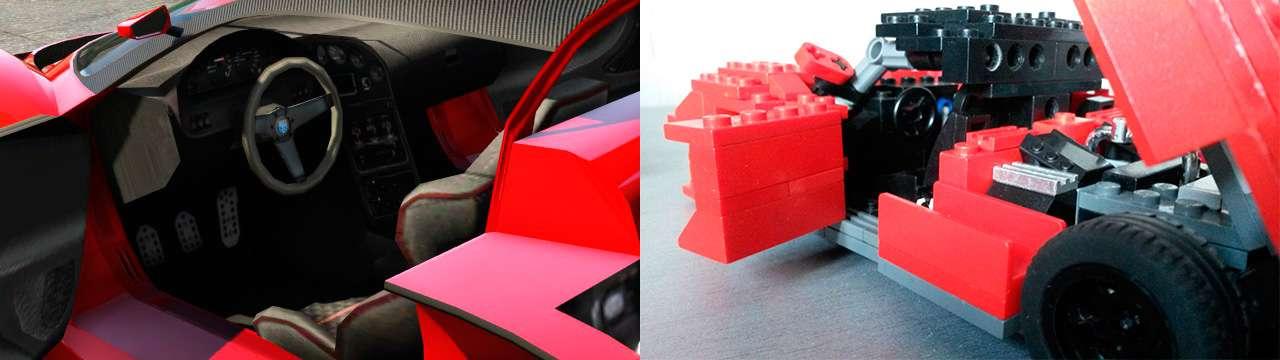 Lego Grotti Turismo R - intérieur
