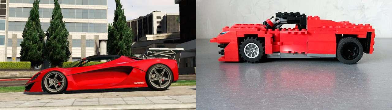 Lego Grotti Turismo R - vue de côté
