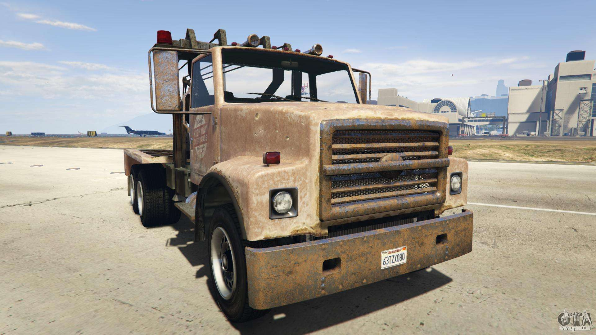 GTA 5 Vapid Towtruck Large - Frontansicht
