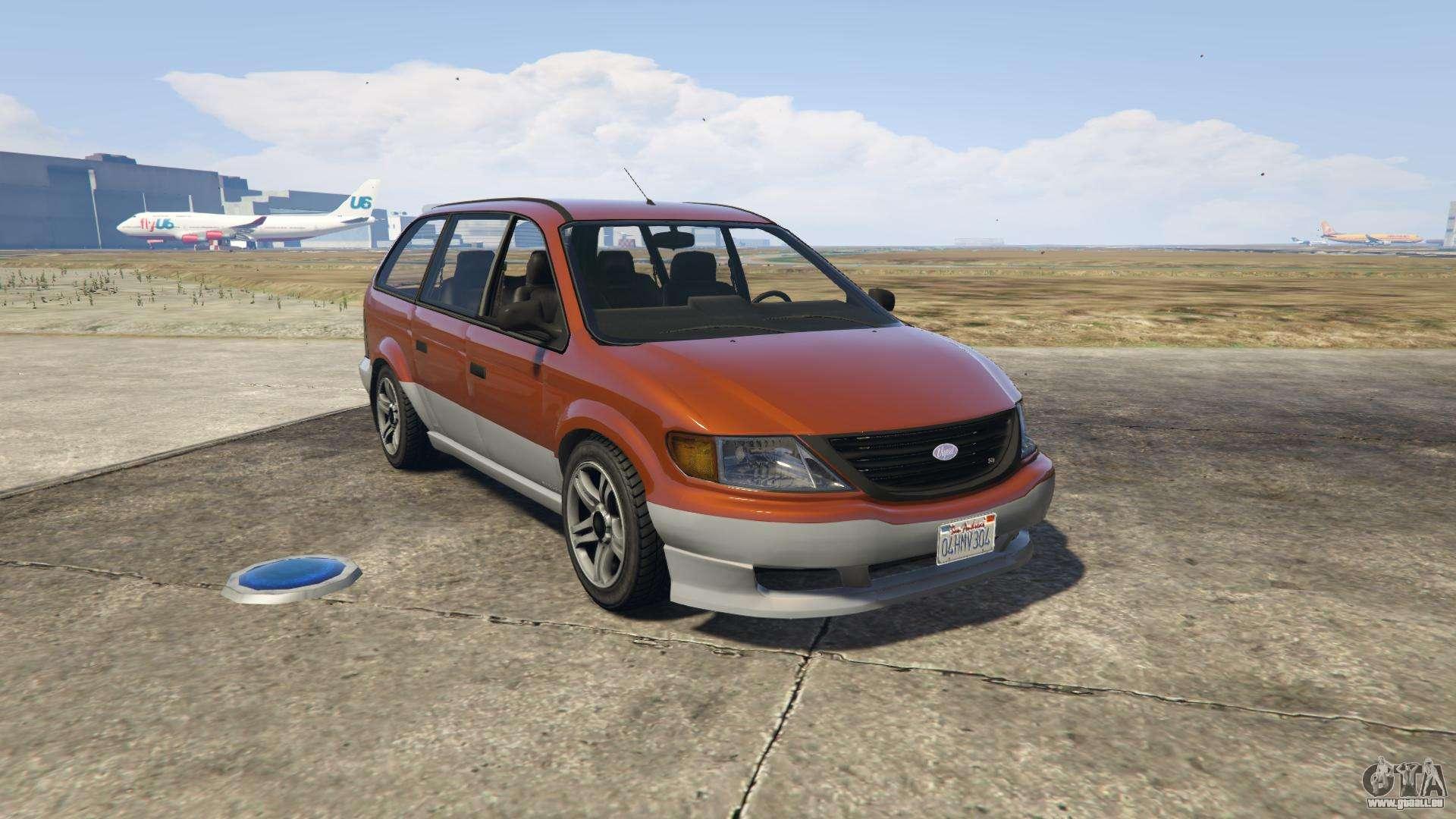GTA 5 Vapid Minivan - vue de face