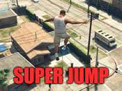Super jump cheat fur GTA 5 auf PC.
