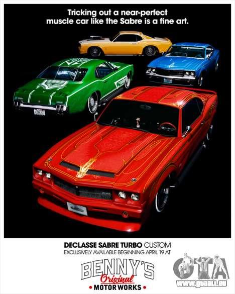 Declasse Sabre Turbo Custom verfügbar im GTA Online