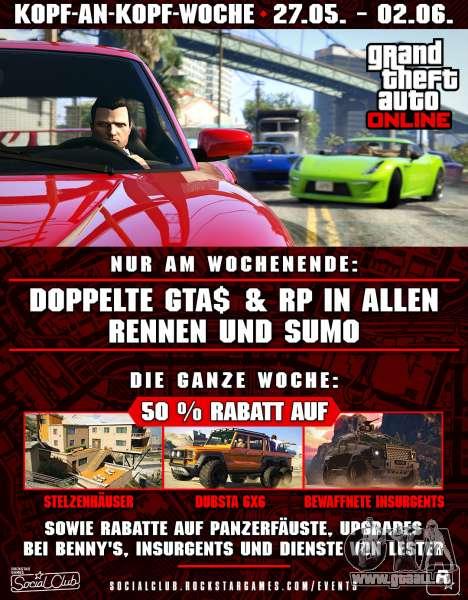 Kopf-an-Kopf-Woche in GTA Online