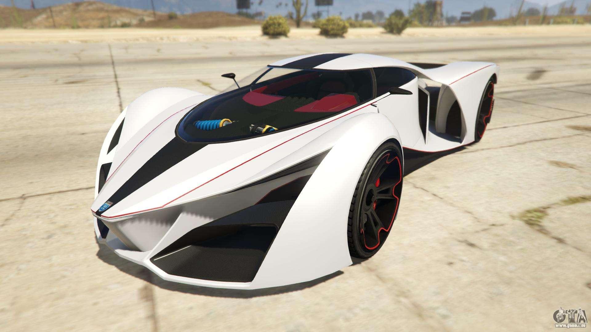 Grotti X80 Proto de GTA Online - vue de face