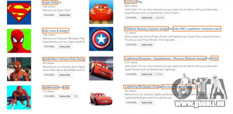 Exemples de chaînes sur YouTube avec des vidéos de GTA 5