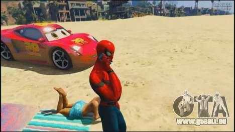 Spider-man sur la plage dans GTA 5