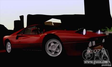 Ferrari 288 GTO 1984 für GTA San Andreas Innenansicht
