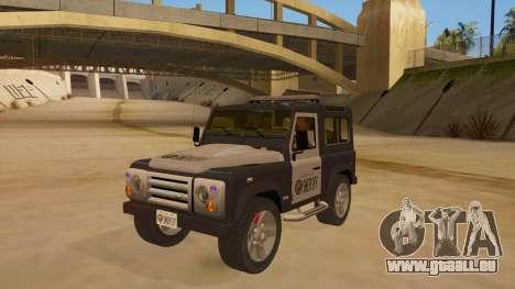 Land Rover Defender Sheriff für GTA San Andreas