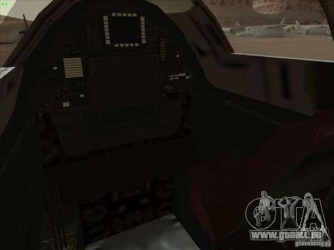 YF-12A für GTA San Andreas Innen