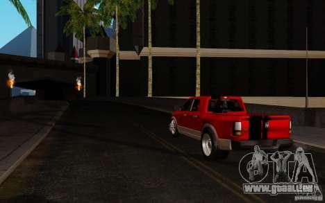 Dodge Ram 3500 Tuning für GTA San Andreas zurück linke Ansicht