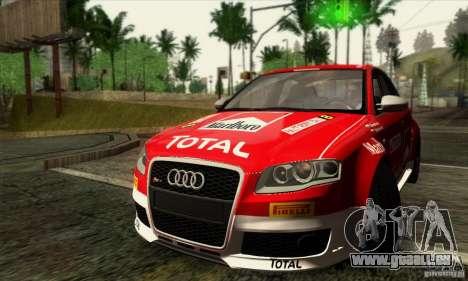 Audi RS4 für GTA San Andreas Unteransicht