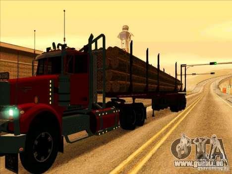 Anhänger, Western Star Trucks 4900 für GTA San Andreas zurück linke Ansicht