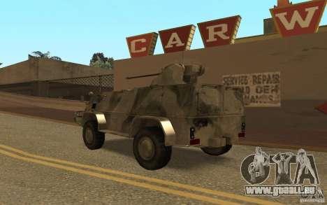 GAS-3937 Vodnik für GTA San Andreas zurück linke Ansicht