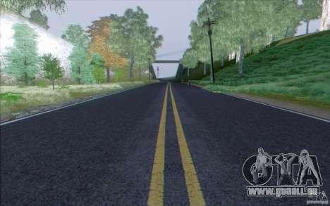 Route de HD v3.0 pour GTA San Andreas troisième écran