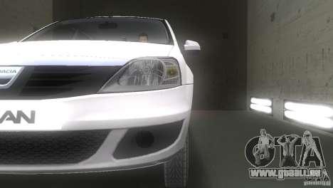 Dacia Logan pour GTA Vice City vue latérale