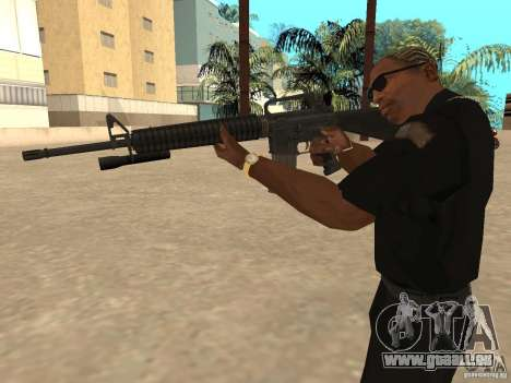 M4A1 from Left 4 Dead 2 pour GTA San Andreas quatrième écran