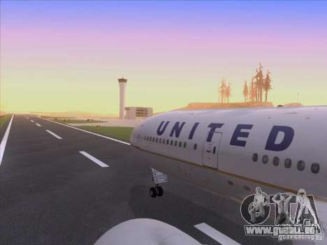 Boeing 777-200 United Airlines für GTA San Andreas obere Ansicht