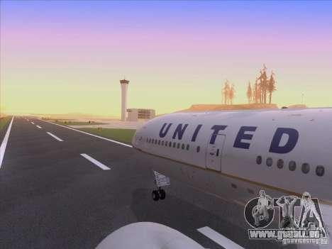 Boeing 777-200 United Airlines pour GTA San Andreas vue de dessus