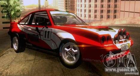 Opel Manta 400 pour GTA San Andreas roue