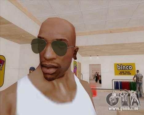 Lunettes de soleil verts lunette pour GTA San Andreas deuxième écran