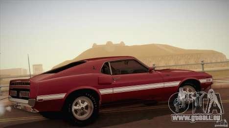 Shelby GT500 428 Cobra Jet 1969 pour GTA San Andreas laissé vue