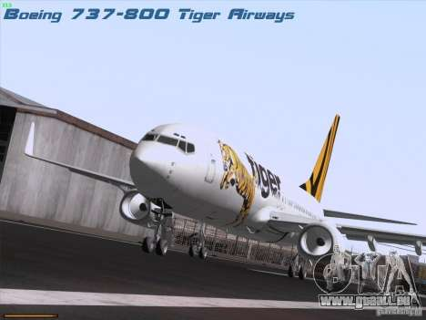 Boeing 737-800 Tiger Airways pour GTA San Andreas