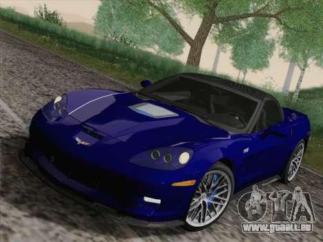 Chevrolet Corvette ZR1 für GTA San Andreas Innenansicht