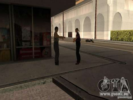 Beschäftigt Tankstelle in Los Santos für GTA San Andreas fünften Screenshot