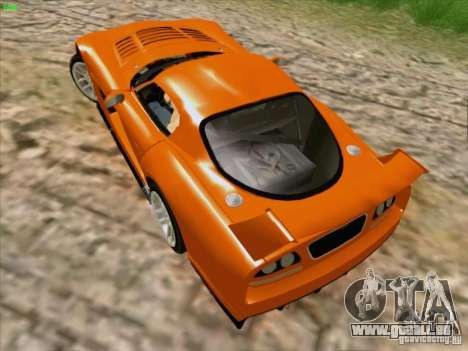 Dodge Viper GTS-R Concept pour GTA San Andreas vue intérieure