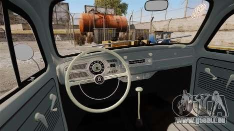 Volkswagen Fusca Edit pour GTA 4 est une vue de l'intérieur