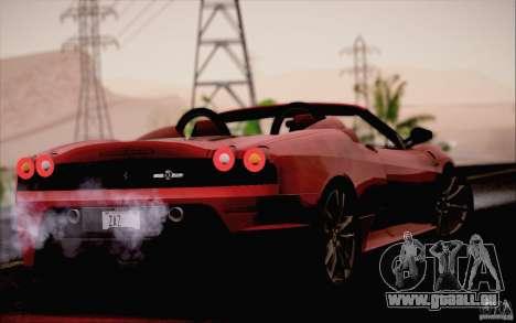 Ferrari F430 Scuderia Spider 16M pour GTA San Andreas vue de droite