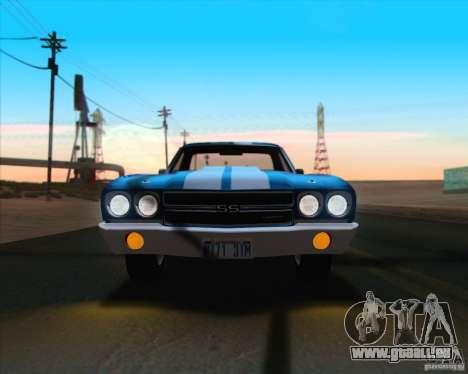 Chevrolet EL Camino SS 70 pour GTA San Andreas vue de dessous