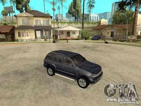 Chevrolet TrailBlazer 2003 pour GTA San Andreas vue arrière