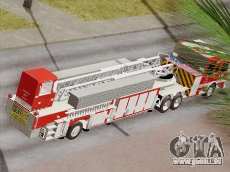 Pierce Arrow XT LAFD Tiller Ladder Truck 10 pour GTA San Andreas roue