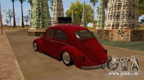 VW Beetle 1966 pour GTA San Andreas sur la vue arrière gauche